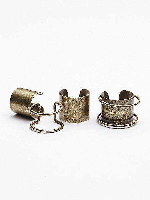 Thick Bar Ring Set