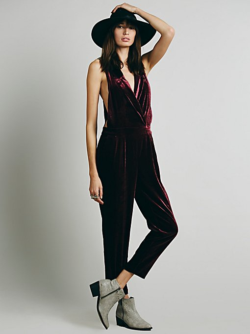 Velvet Surplice One Piece