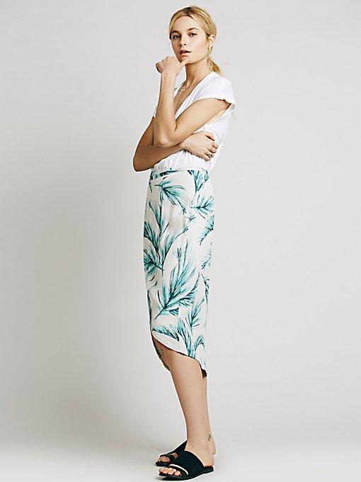 Havana Print Wrap Skirt