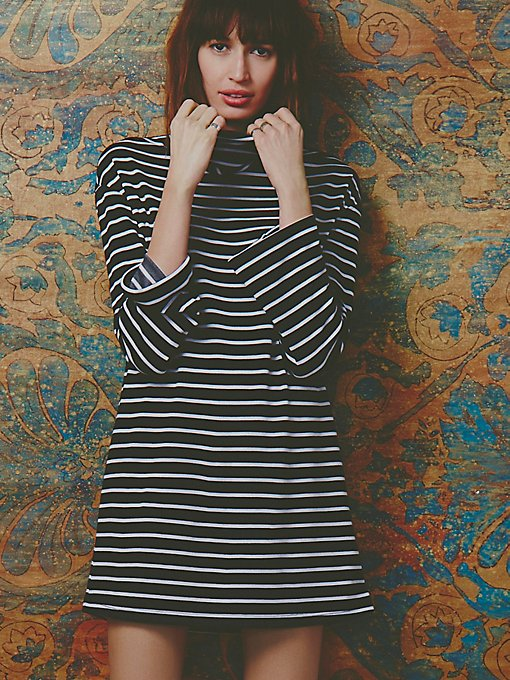 Striped Cowl Dress