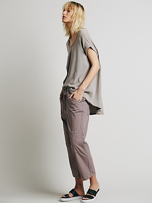 Cropped Utility Pant With Drawstring