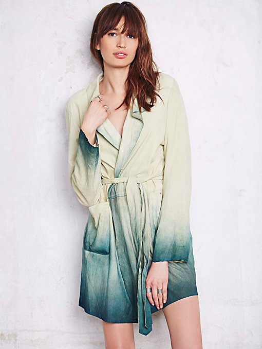 Dip Dye Paint Suede Trench