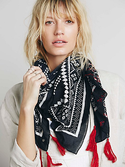 Maya Bay Embroidered Scarf