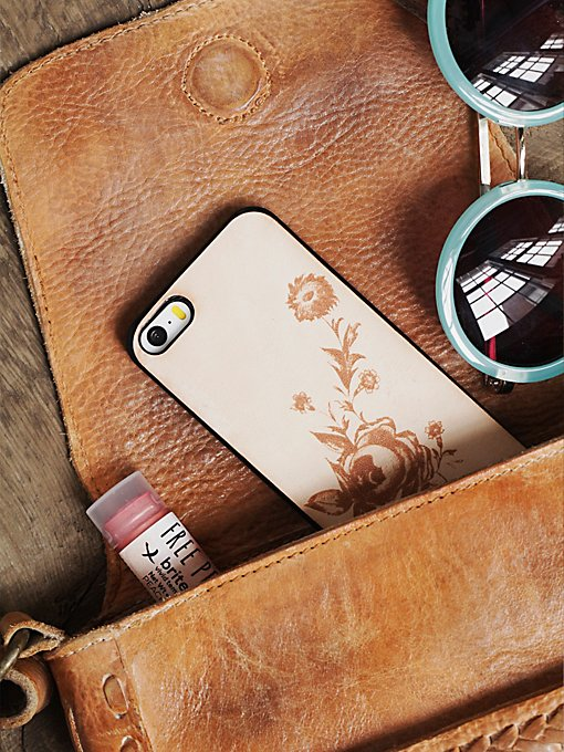 Branded Leather iPhone Case