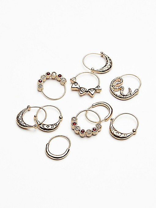 Stone Detail Hair Rings