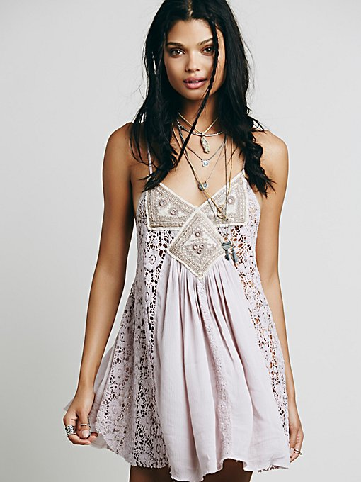 Sleeveless Embroidered Lace Insert Tunic