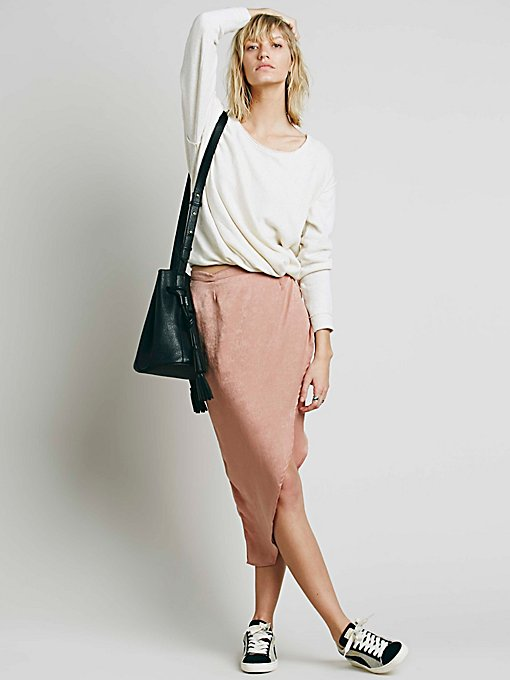 Lily Wrap Column Skirt