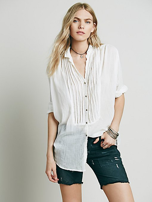 FP ONE Sheer Shirting Tunic