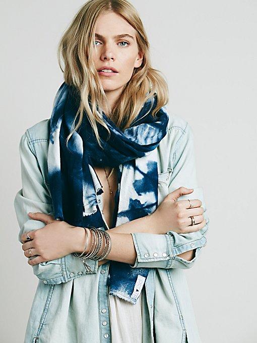 Silk Indigo Blanket Scarf