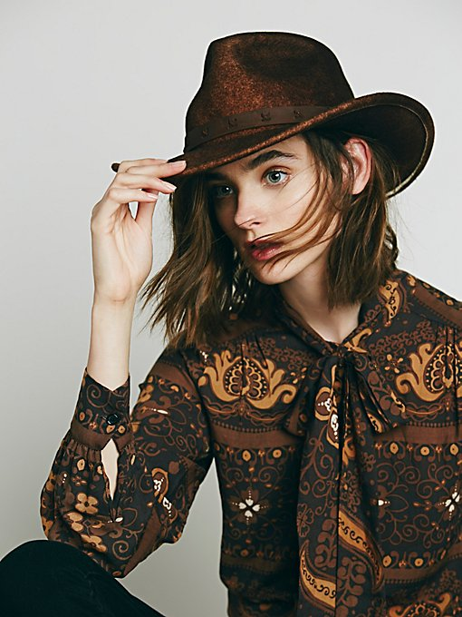 Distressed Western Hat