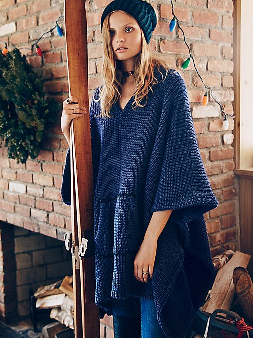 Brookside Hooded Poncho