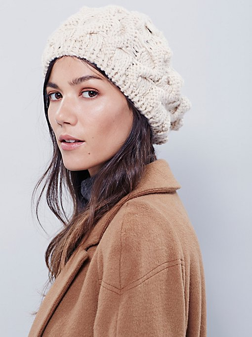 Snow Bird Cable Beret