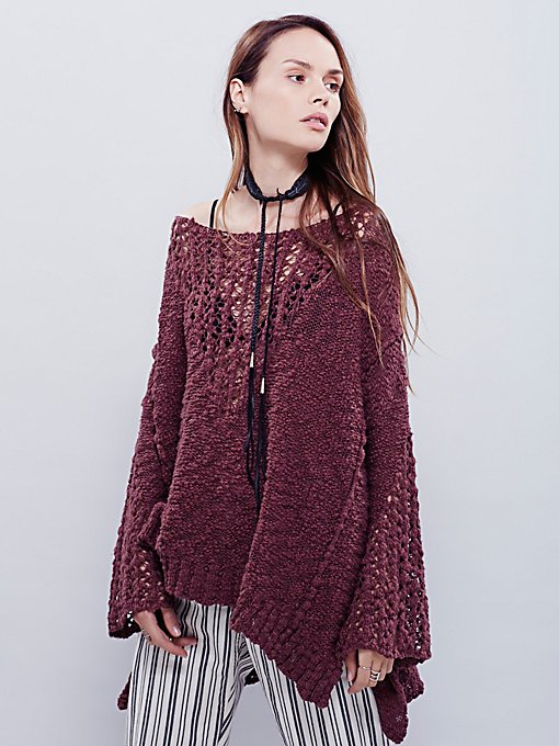 Pretty Pointelle Vee Sweater