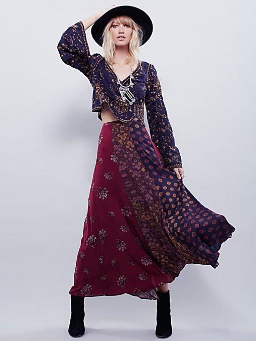 Amazing Technicolor Printed Trumpet Skirt