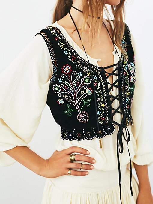 Vintage Victorian Beaded Vest