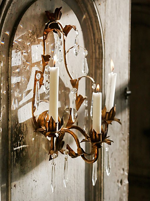 Vintage 1970s Candle Sconce