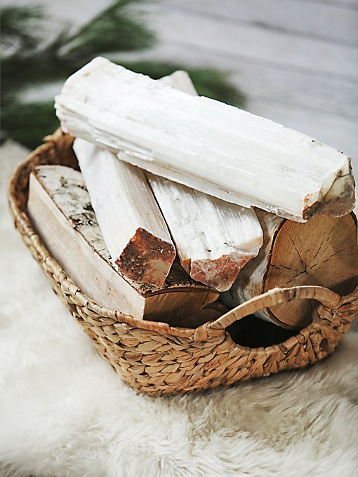 Selenite Crystal Logs