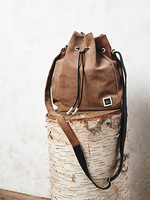 Lex Suede Bucket Bag