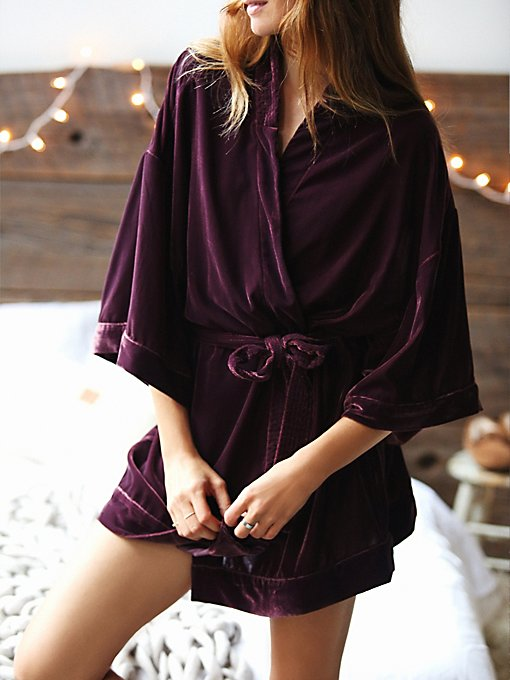 You Fancy Velvet Robe