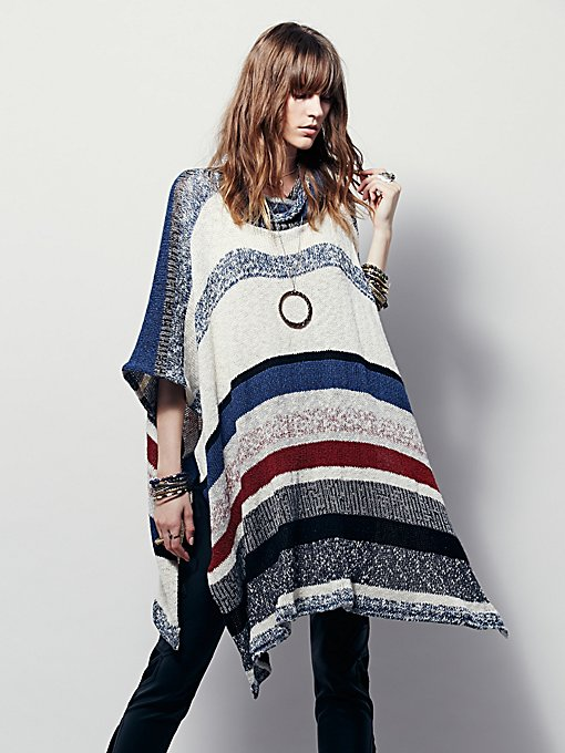 Dream Maker Melange Poncho