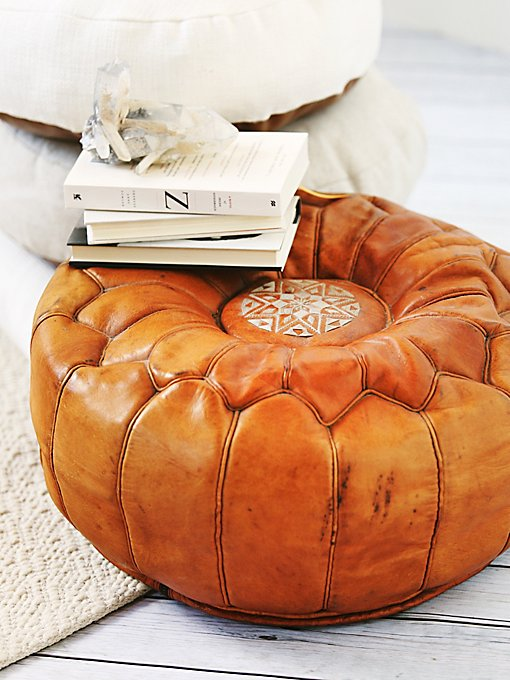 Vintage 70s Embroidered Pouf