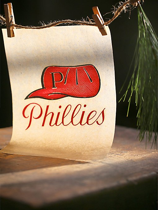 Vintage 1950s Phillies Decal
