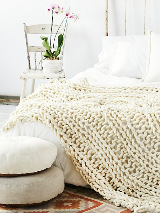 Loopy Mango x Free People Wool Blanket