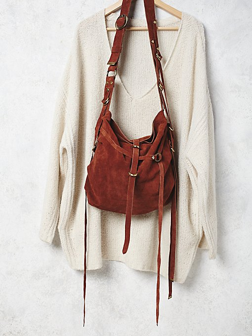 Goldpoint Suede Bag