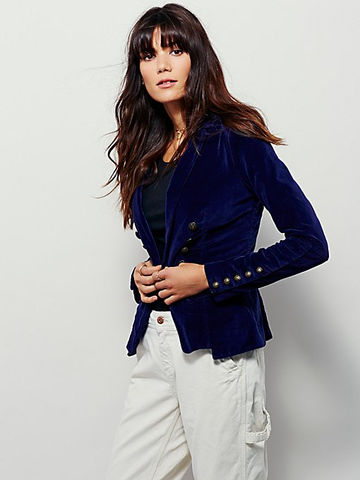 Structured Velvet Blazer