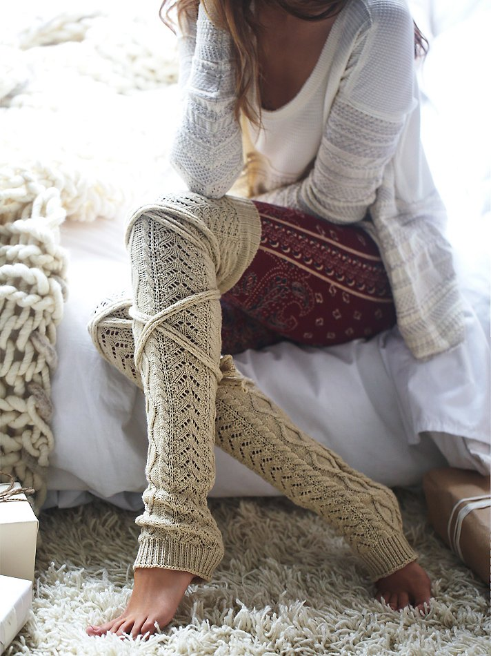 Gorgeous knit leg warmers