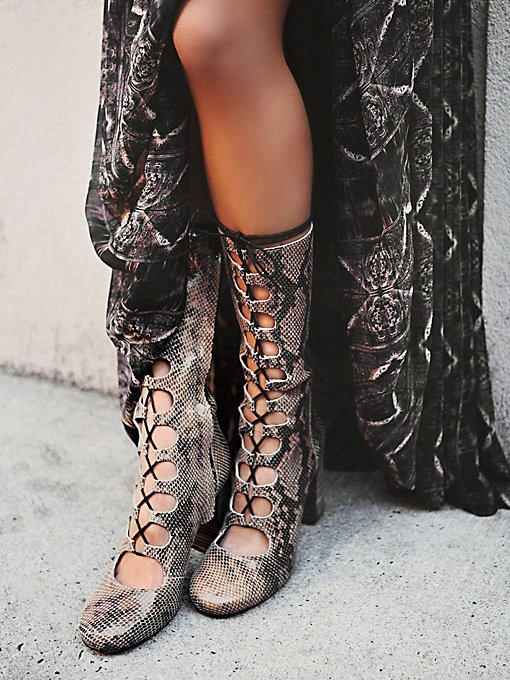 Carly Lace Up Heel Boot