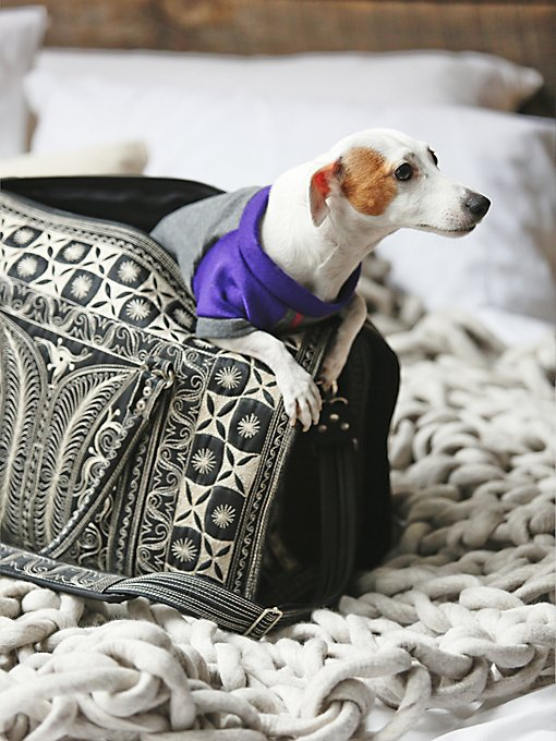 Yala Embroidered Pet Carrier
