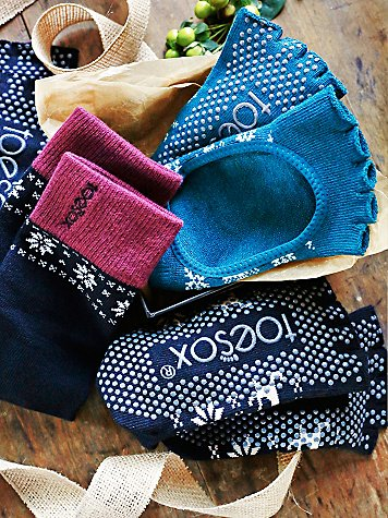 Grippy yoga toesox gift box