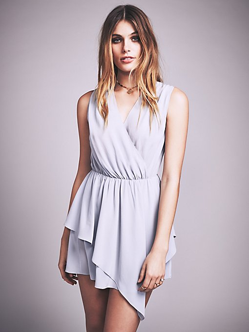 Plie Washed Silk Mini Dress
