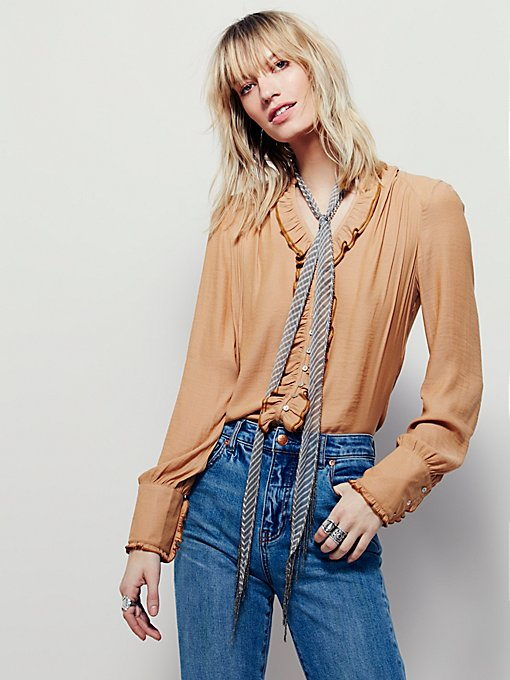 Ruffle and Run Buttondown