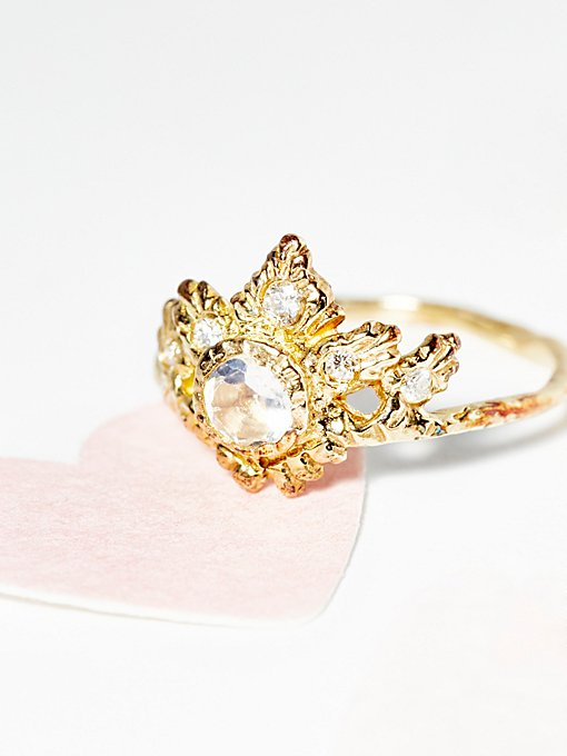 Rapture Moonstone/Diamond Ring