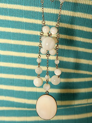 Cabochon & Bead Necklace