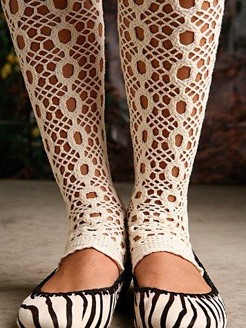 Mod Crochet Open Toe Tight