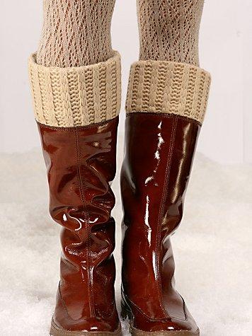 Knit & Patent Weatherproof Boot