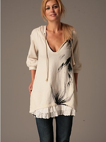 Free People Bubble Sleeve Pullover Hoodie at Free People Clothing